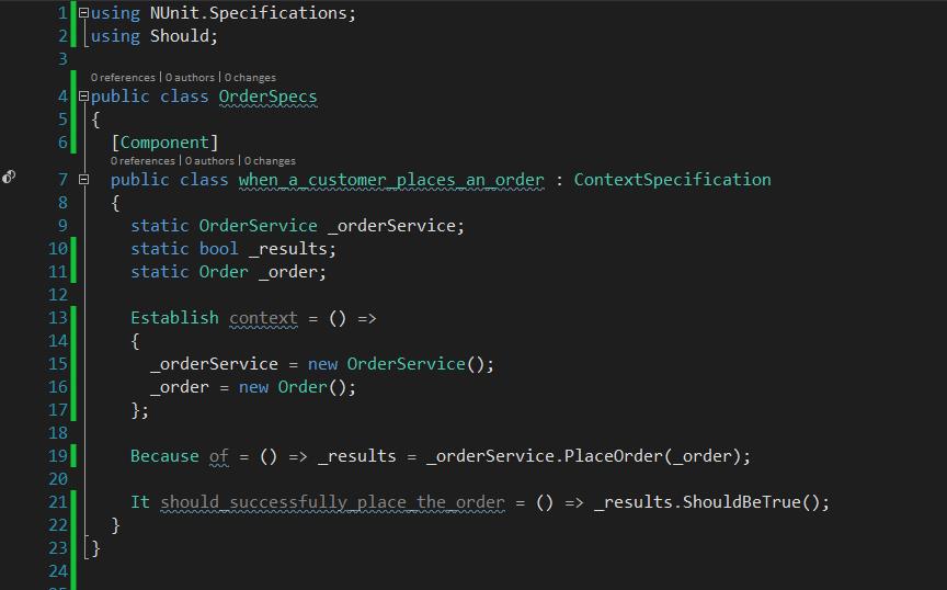 Introducing NUnit Specifications · Los Techies