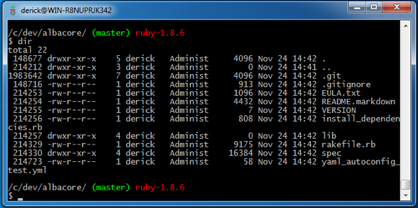 Replicating My OSX Terminal In Win7 with Git Bash (MinGW32