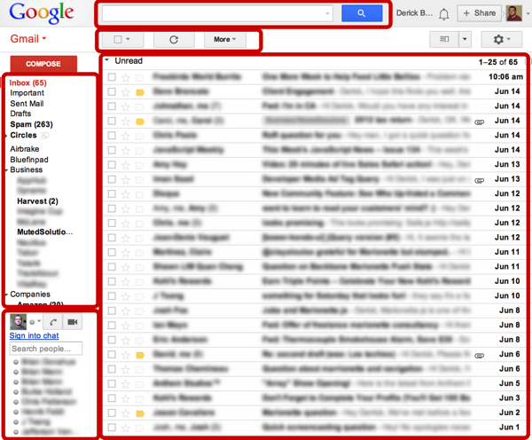 Gmail components