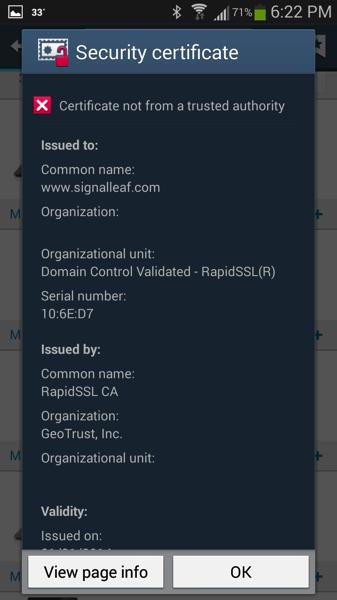 SSL Cert Issue 1