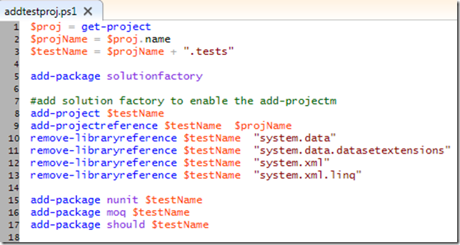 Using Solution Factory + NuPack to create Opinionated Visual Studio