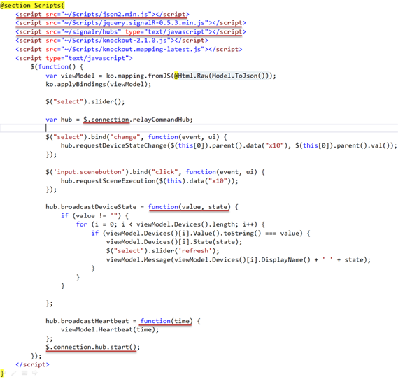 Code review of a Publish/Subscribe Architecture using SignalR in ...